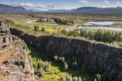 Thingvellir valley  - Iceland. Royalty Free Stock Photo