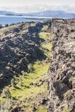 Thingvellir valley  - Iceland. Stock Photo