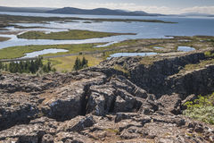 Thingvellir valley  - Iceland. Royalty Free Stock Images