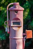 thingy未知的水需给电表连接点的通入 图库摄影