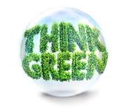 Thinhk green concept Stock Photos