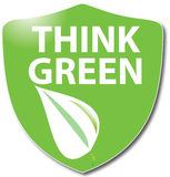 Think. Illustration with the text think green Stock Image