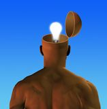 THINK!. Idea floats in an open mind Royalty Free Stock Photo