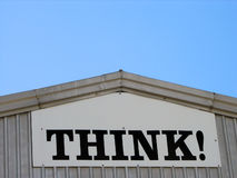 Think. Sign on a building stock images