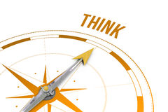 Think  against compass Stock Image