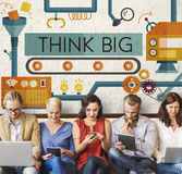 Think Big Analysis Attitude Planning Success Concept Royalty Free Stock Photo