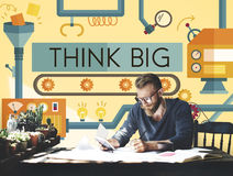 Think Big Analysis Attitude Planning Success Concept Royalty Free Stock Photography