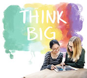 Think Big Attitude Creative Inspiration Optimism Concept Stock Image