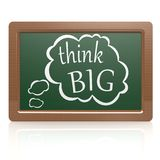 Think big black board Stock Photography