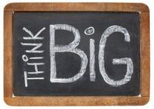 Think big on blackboard Royalty Free Stock Photography