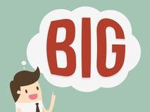 Think big. Businessman and Think Big concept Stock Photos