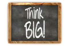Think Big Concept Blackboard Stock Images