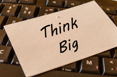 Think big concept on keyboard background Stock Image