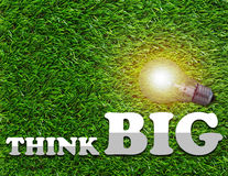 Think Big Concept Stock Image