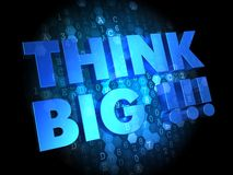 Think Big on Dark Digital Background. Royalty Free Stock Photography
