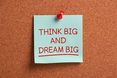 Think Big and Dream Big Stock Photo