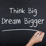 Think Big Dream Bigger Royalty Free Stock Images