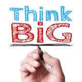 Think big stock image