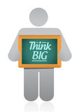 Think big holding illustration design. Over a white background Stock Images