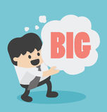 Think big. Illustration Cartoons concepts . eps10 Royalty Free Stock Photography