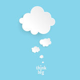 Think. Big.Infographic design white thought bubble on the blue background. Eps 10 vector file royalty free illustration