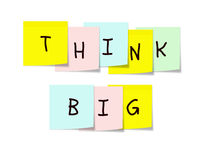 Think Big Memo Pads Royalty Free Stock Photos