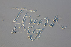 Think big message in the sand Royalty Free Stock Photos
