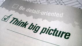 Think big picture Royalty Free Stock Images