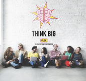 Think Big Positive Thinking Inspiration Attitude Concept Stock Photography