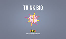 Think Big Positive Thinking Inspiration Attitude Concept Royalty Free Stock Images