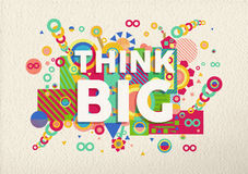 Think big quote poster design Royalty Free Stock Photo