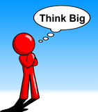 Think Big Represents Plan Of Action And About Stock Photos