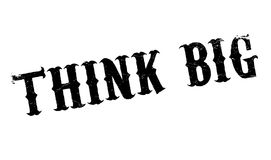Think Big rubber stamp Royalty Free Stock Image