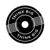Think Big rubber stamp. Grunge design with dust scratches. Effects can be easily removed for a clean, crisp look. Color is easily changed Royalty Free Stock Photography