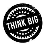 Think Big rubber stamp Royalty Free Stock Photos