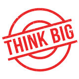Think Big rubber stamp Royalty Free Stock Images