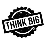 Think Big rubber stamp. Grunge design with dust scratches. Effects can be easily removed for a clean, crisp look. Color is easily changed Stock Photography
