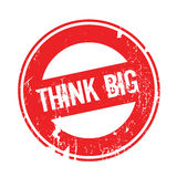 Think Big rubber stamp Stock Images