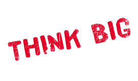 Think Big rubber stamp Stock Photo