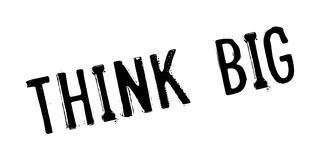 Think Big rubber stamp Stock Image