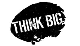 Think Big rubber stamp Royalty Free Stock Photo