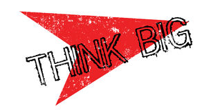 Think Big rubber stamp Stock Photos