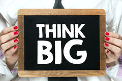 Think big sign Royalty Free Stock Photography