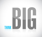Think big text message illustration design Stock Photography