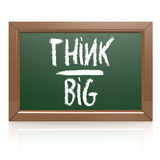 Think Big written with chalk on blackboard Royalty Free Stock Photo