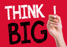 Think Big written on the wipe board Royalty Free Stock Photos