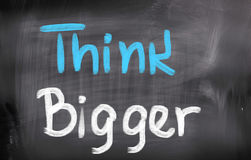 Think Bigger Concept Royalty Free Stock Photo