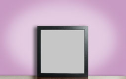 Think black photo frame on pink Royalty Free Stock Image