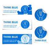 Think blue Stock Photography