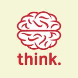 Think. Brain icon Stock Image